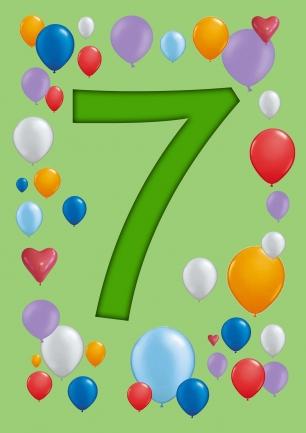 verjaardag zeven jaar